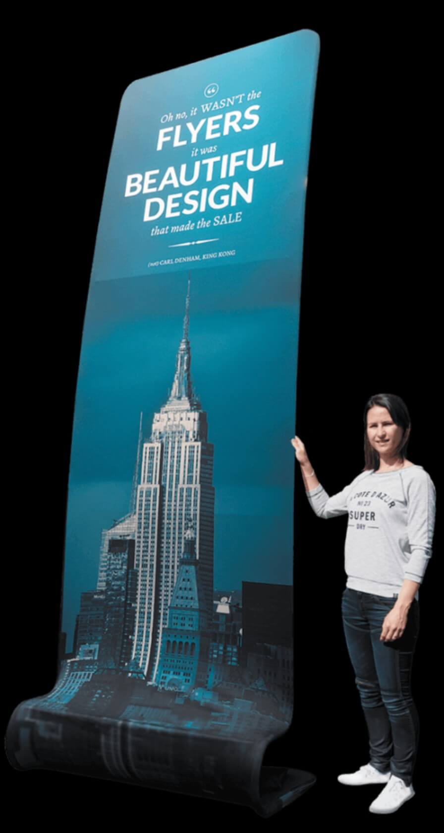 large pop up fabric stand