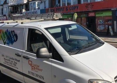 Quick Print van at shop