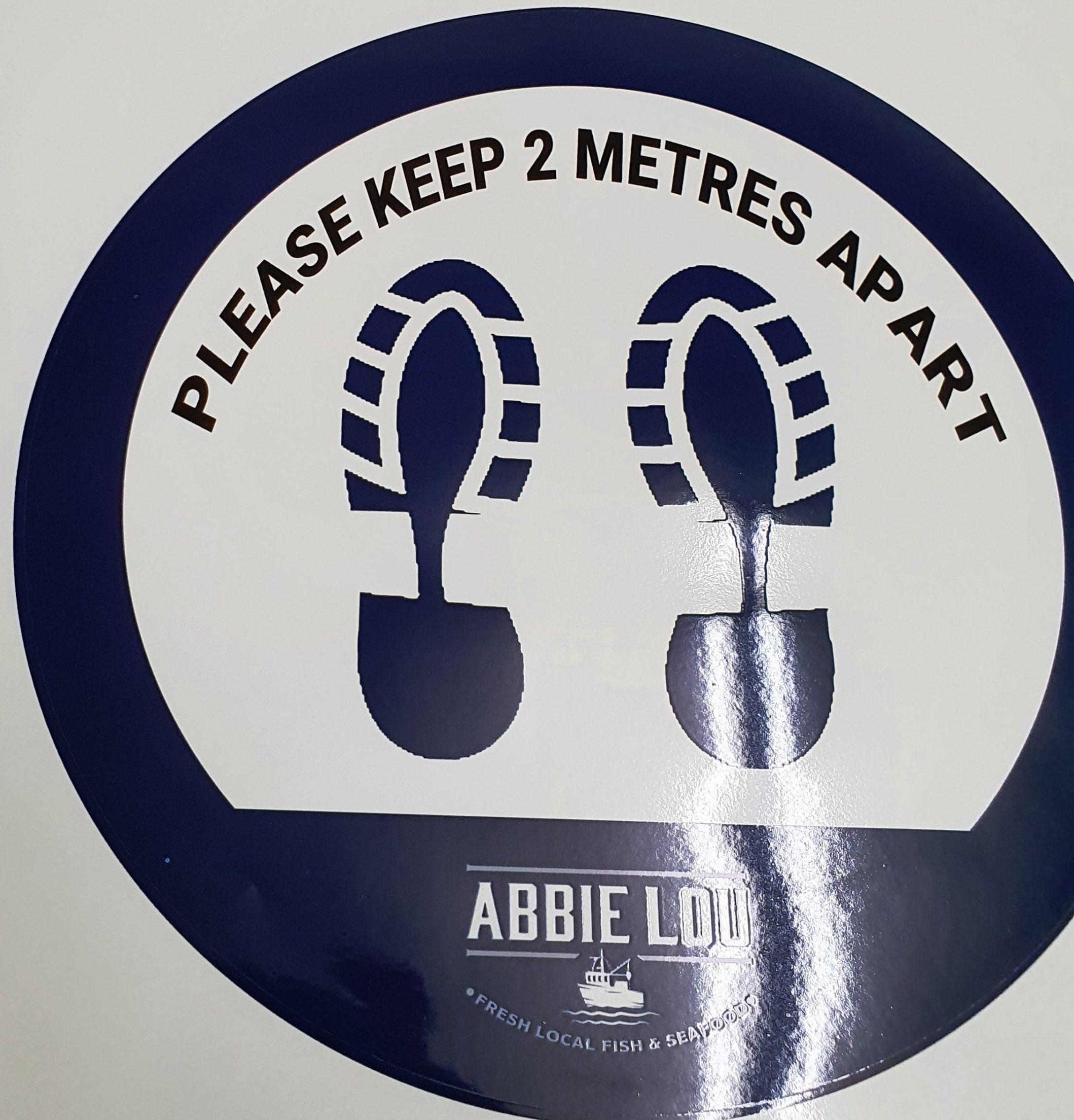 2 metres apart floor sticker