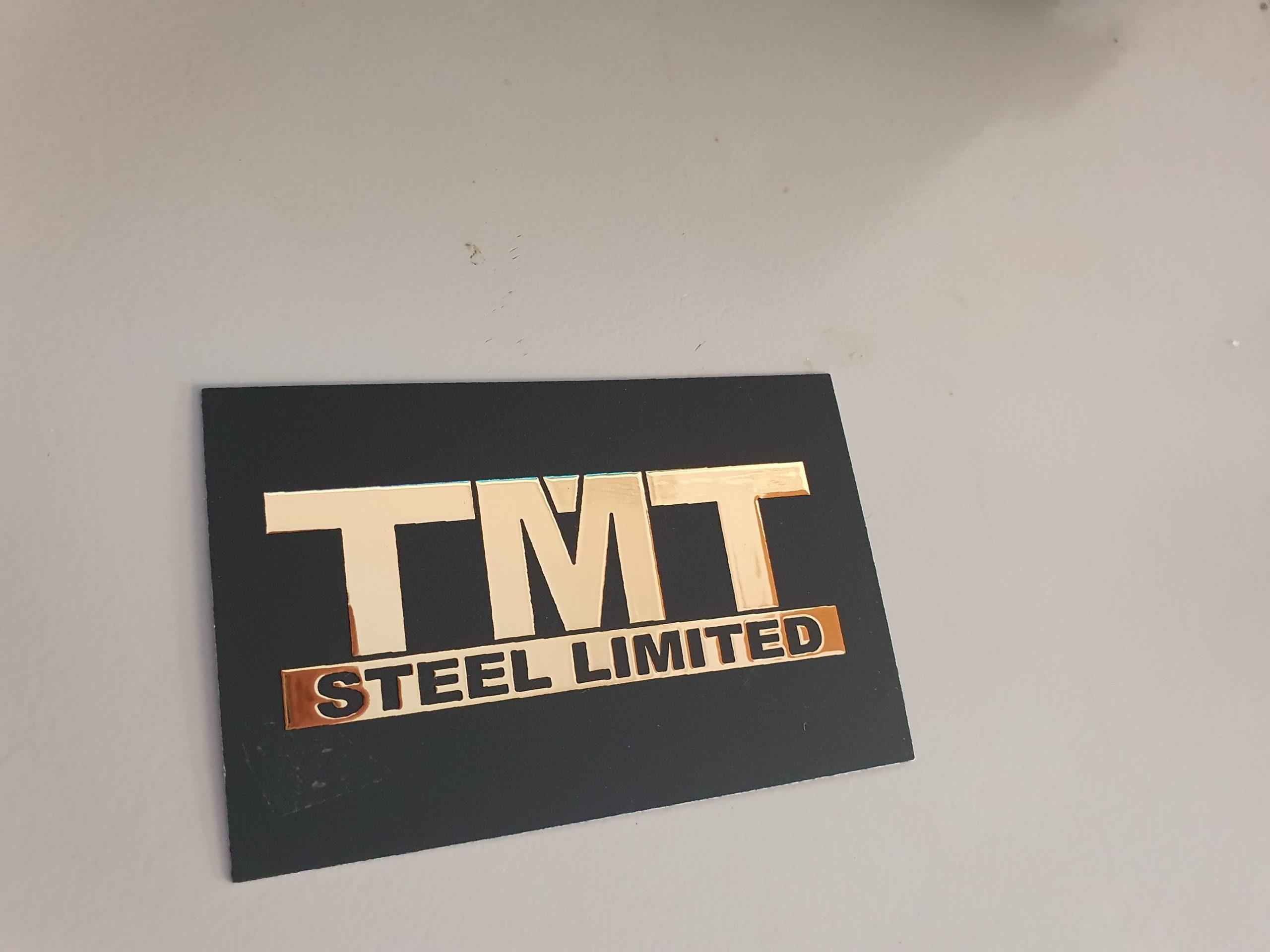 metallic business card