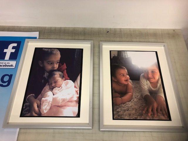 framed canvases